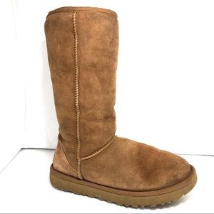 UGG 1016224 Tan Suede Tall Classic Boots Sz7